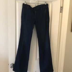 Flare denim trousers size 4